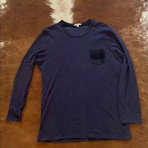 Burberry Brit Navy Blue long Sleeve T/Shirt